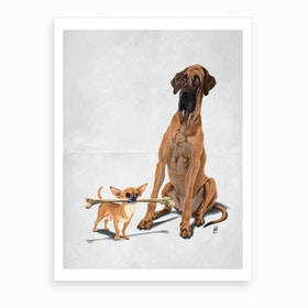 The Long and the Short and the Tall (Wordless) Art Print