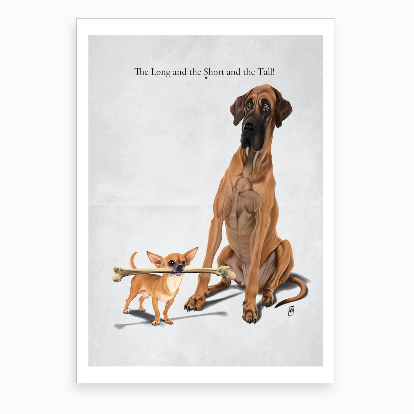 The Long and the Short and the Tall Art Print