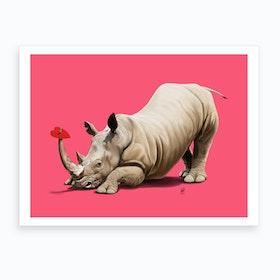 Horny (Colour) Art Print