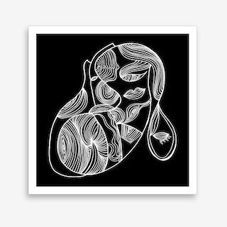 Line of a Woman Art Print