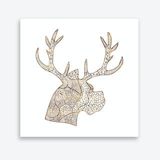 Pattern of Deer Art Print