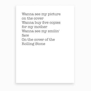 Rolling Stone Art Print