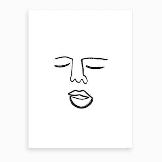 Blind Drawing 2 Art Print