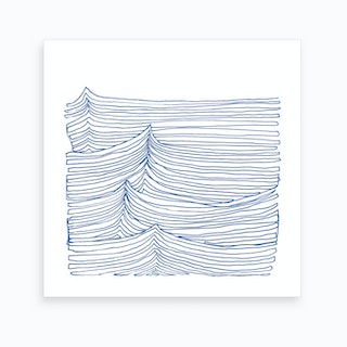 Blue Continuous Sea2 Art Print