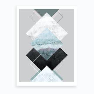 Geometric Textures 14 Art Print