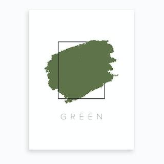 Green Color Box Art Print