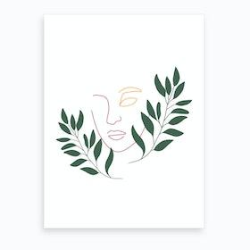 Leaf The Girl Art Print