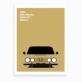 1974 Alfa Romeo 2000 Gt Veloce Art Print
