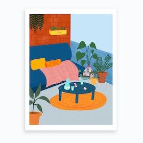 Summer Terrace Art Print