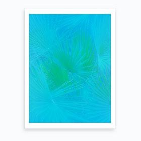 Blue Palms Art Print