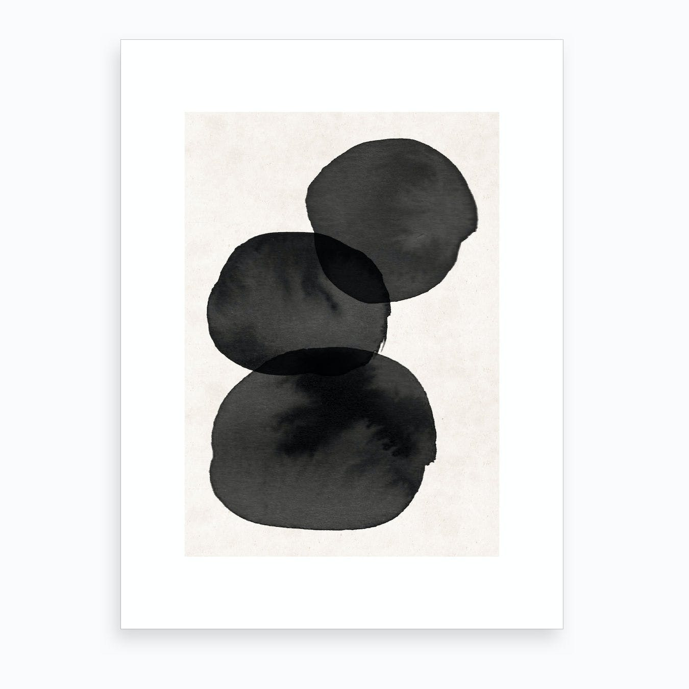 Abstract Nude Three Pearls Art Print
