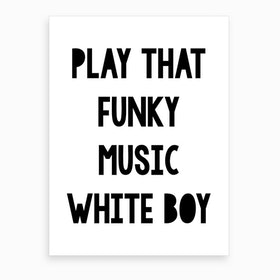 Funky Music Art Print