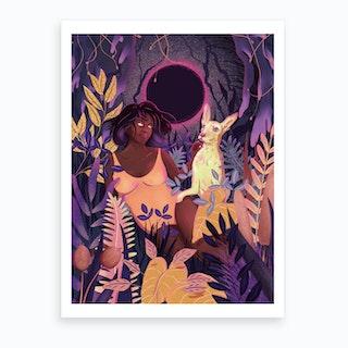 Jungfru Art Print