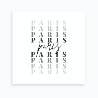 Paris Fade Font Art Print