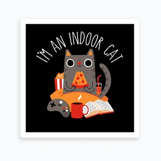 Indoor Cat Art Print