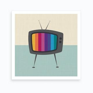 Retro Tv Art Print