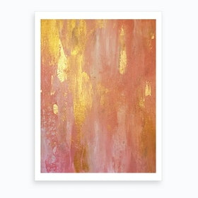 Rose Gold Romance Art Print