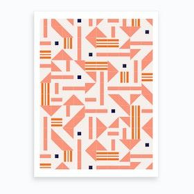 Random Tiles Art Print