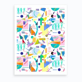 Geometric Collage Pop Art Print