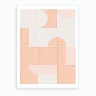 Retro Tiles 06 Art Print