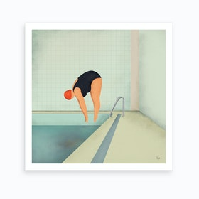 Swimmer2 I Art Print