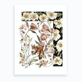 Blushing Squirrel Art Print