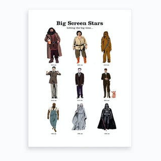 Big Screen Stars Art Print