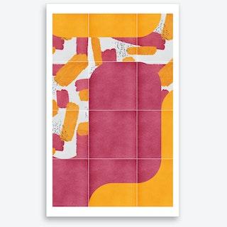 Bold Painted Tiles 02 Art Print