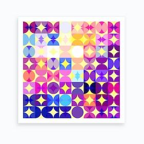 Colorful Modern Geometric Pattern I Art Print