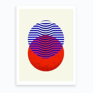 Two Circles Abstract 3 Art Print