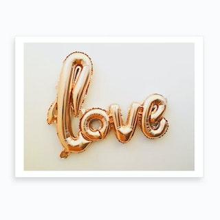 Golden Love Ballon Art Print