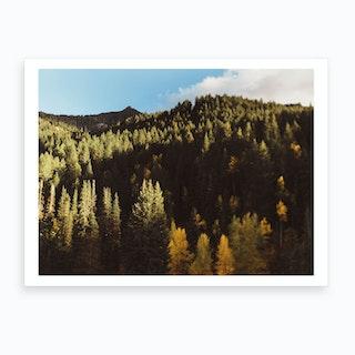 Green Mountains Art Print
