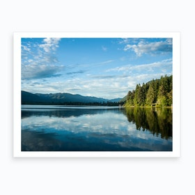 Clouds Reflecting On Lake Art Print