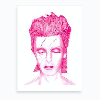 Pink Bowie Art Print