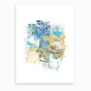 Nature Regrowth   Abstract Painting V Art Print