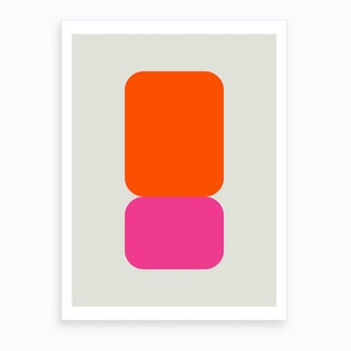 Emphatic Orange Pink Art Print
