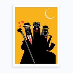 A Jazzy Night Art Print