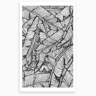 Wrong Black & White Jungle Art Print