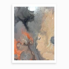 Blush Water Bomb Art Print