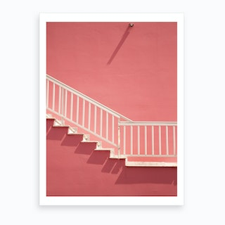 White Stairways To Pink Heaven  Art Print