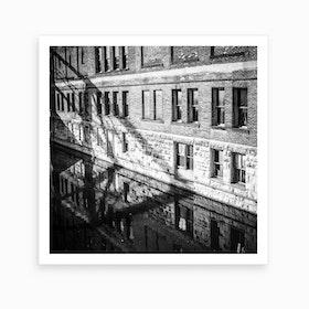 The Dangerous Line Black And White 2 Art Print