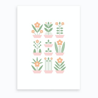 Nine Plants Art Print