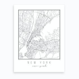 New York New York Street Map Art Print