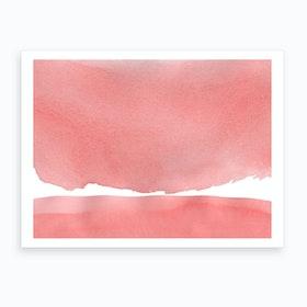 Minimal Pink Abstract 04 Landscape Art Print