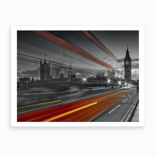 Westminster Bridge Traffic Art Print
