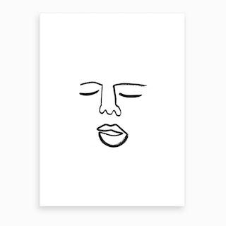 Blind Drawing Art Print