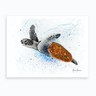 Opulent Ocean Turtle Art Print