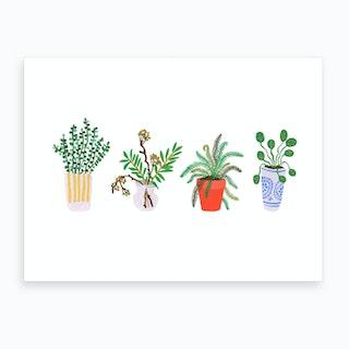 Planters Parade Art Print
