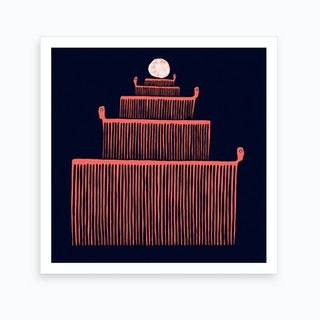 Comb Dude Cake Art Print