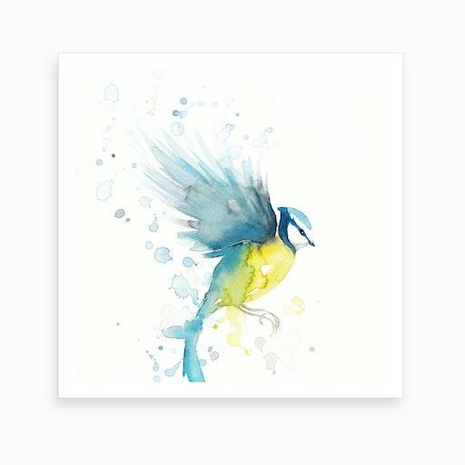 Bluetit Bird 2 Art Print